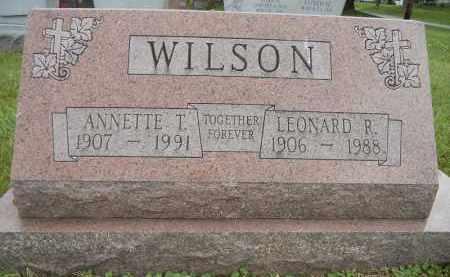 WILSON, LEONARD R - Portage County, Ohio | LEONARD R WILSON - Ohio Gravestone Photos