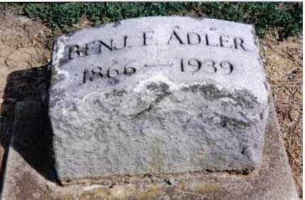 ADLER, BENJAMIN FRANKLIN - Preble County, Ohio | BENJAMIN FRANKLIN ADLER - Ohio Gravestone Photos