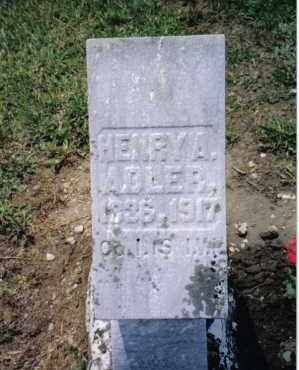 ADLER, HENRY A. - Preble County, Ohio | HENRY A. ADLER - Ohio Gravestone Photos