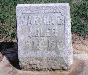 ADLER, MARTHA C. - Preble County, Ohio | MARTHA C. ADLER - Ohio Gravestone Photos