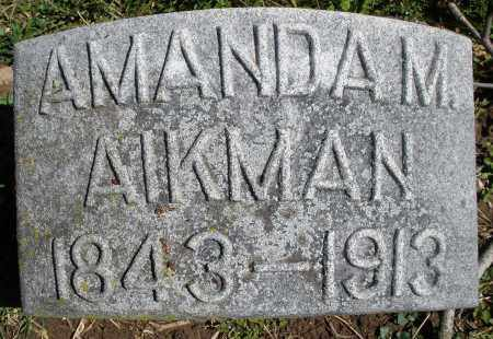 AIKMAN, AMANDA M. - Preble County, Ohio | AMANDA M. AIKMAN - Ohio Gravestone Photos