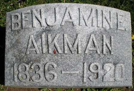 AIKMAN, BENJAMIN E. - Preble County, Ohio | BENJAMIN E. AIKMAN - Ohio Gravestone Photos
