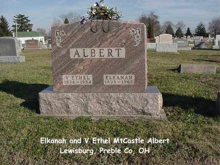 ALBERT, VIRGINIA ETHEL - Preble County, Ohio | VIRGINIA ETHEL ALBERT - Ohio Gravestone Photos