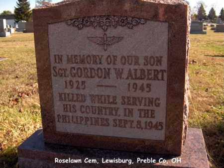 ALBERT, GORDON - Preble County, Ohio | GORDON ALBERT - Ohio Gravestone Photos