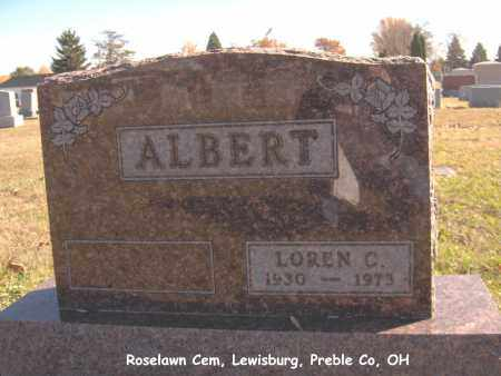 ALBERT, LOREN - Preble County, Ohio | LOREN ALBERT - Ohio Gravestone Photos