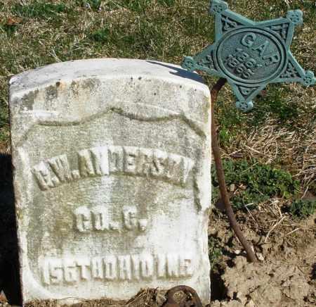 ANDERSON, G.W. - Preble County, Ohio | G.W. ANDERSON - Ohio Gravestone Photos