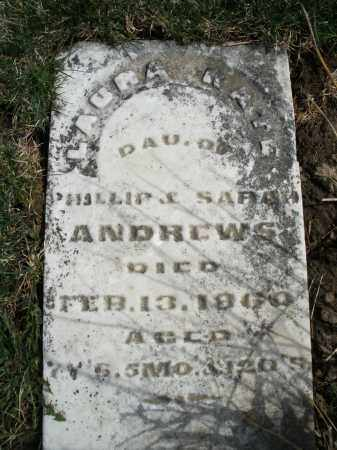 ANDREWS, LAURA KATE - Preble County, Ohio | LAURA KATE ANDREWS - Ohio Gravestone Photos