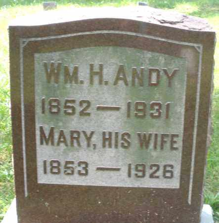 ANDY, WILLIAM H. - Preble County, Ohio | WILLIAM H. ANDY - Ohio Gravestone Photos