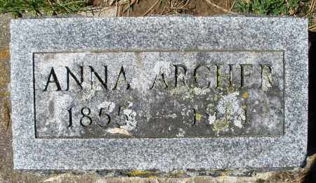ARCHER, ANNA - Preble County, Ohio | ANNA ARCHER - Ohio Gravestone Photos