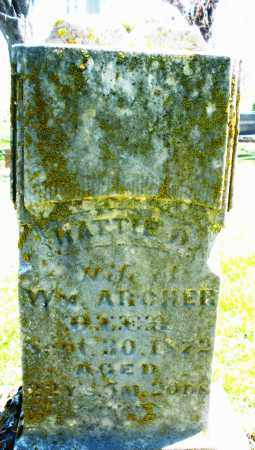 ARCHER, HATTIE - Preble County, Ohio | HATTIE ARCHER - Ohio Gravestone Photos
