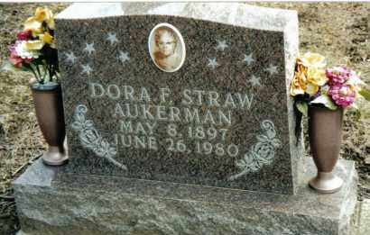 STRAW AUKERMAN, DORA F. - Preble County, Ohio | DORA F. STRAW AUKERMAN - Ohio Gravestone Photos