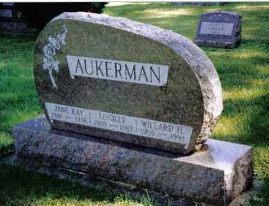AUKERMAN, LUCILLE - Preble County, Ohio | LUCILLE AUKERMAN - Ohio Gravestone Photos