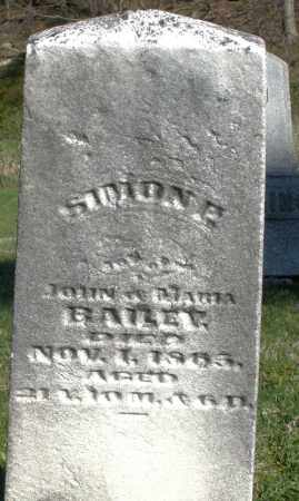 BAILEY, SIMON E. - Preble County, Ohio | SIMON E. BAILEY - Ohio Gravestone Photos