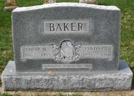 BAKER, EDGAR M. - Preble County, Ohio | EDGAR M. BAKER - Ohio Gravestone Photos