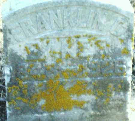 BAKER, FRANKLIN - Preble County, Ohio | FRANKLIN BAKER - Ohio Gravestone Photos