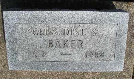 BAKER, GERALDINE S. - Preble County, Ohio | GERALDINE S. BAKER - Ohio Gravestone Photos