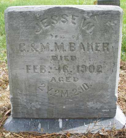 BAKER, JESSE W. - Preble County, Ohio | JESSE W. BAKER - Ohio Gravestone Photos