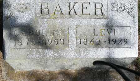 BAKER, CAROLINE - Preble County, Ohio | CAROLINE BAKER - Ohio Gravestone Photos