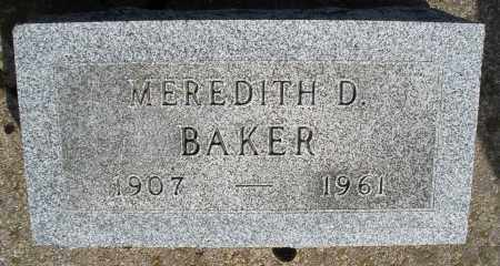BAKER, MEREDITH D. - Preble County, Ohio | MEREDITH D. BAKER - Ohio Gravestone Photos