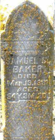 BAKER, SAMUEL S - Preble County, Ohio | SAMUEL S BAKER - Ohio Gravestone Photos
