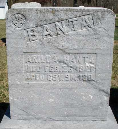 BANTA, ARILDA - Preble County, Ohio | ARILDA BANTA - Ohio Gravestone Photos