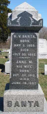 BANTA, JANE M. - Preble County, Ohio | JANE M. BANTA - Ohio Gravestone Photos
