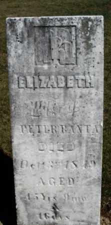 BANTA, ELIZABETH - Preble County, Ohio | ELIZABETH BANTA - Ohio Gravestone Photos