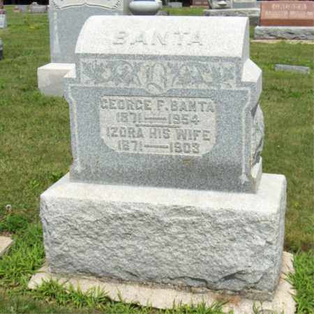 BANTA, GEORGE F - Preble County, Ohio | GEORGE F BANTA - Ohio Gravestone Photos