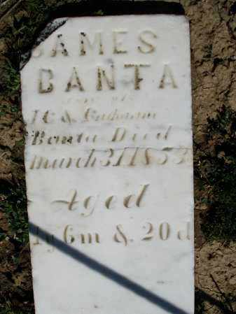 BANTA, JAMES - Preble County, Ohio | JAMES BANTA - Ohio Gravestone Photos