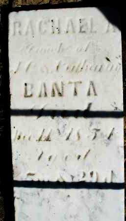 BANTA, RACHAEL A. - Preble County, Ohio | RACHAEL A. BANTA - Ohio Gravestone Photos