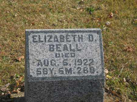 BEALL, ELIZABETH - Preble County, Ohio | ELIZABETH BEALL - Ohio Gravestone Photos
