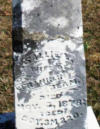 BEAM, SALLIE - Preble County, Ohio | SALLIE BEAM - Ohio Gravestone Photos