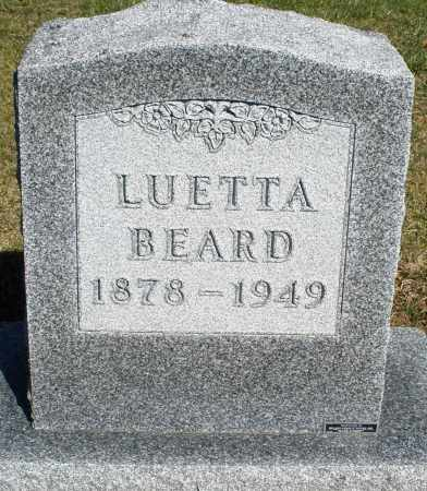BEARD, LUETTA - Preble County, Ohio | LUETTA BEARD - Ohio Gravestone Photos