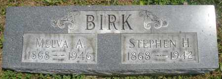 BIRK, STEPHEN H. - Preble County, Ohio | STEPHEN H. BIRK - Ohio Gravestone Photos