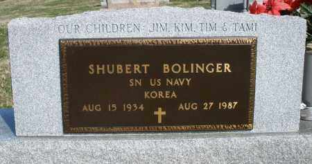 BOLINGER, SHUBERT - Preble County, Ohio | SHUBERT BOLINGER - Ohio Gravestone Photos