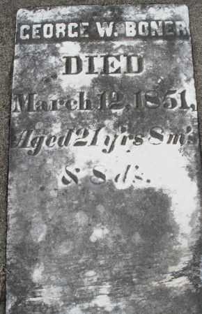 BONER, GEORGE W. - Preble County, Ohio   GEORGE W. BONER - Ohio Gravestone Photos