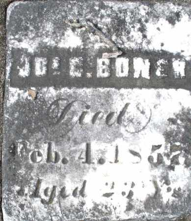 BONER, J. - Preble County, Ohio | J. BONER - Ohio Gravestone Photos
