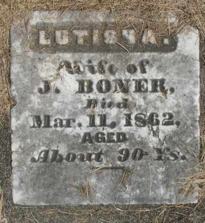 BONER, LUTISHA - Preble County, Ohio | LUTISHA BONER - Ohio Gravestone Photos