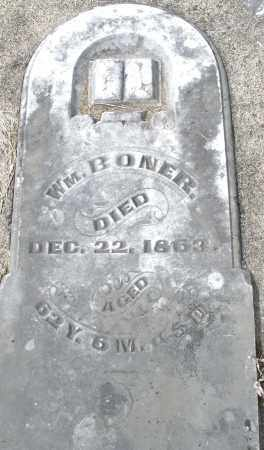 BONER, WILLIAM - Preble County, Ohio | WILLIAM BONER - Ohio Gravestone Photos