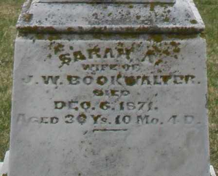 BOOKWALTER, SARAH A. - Preble County, Ohio | SARAH A. BOOKWALTER - Ohio Gravestone Photos