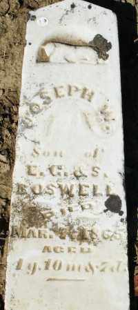 BOSWELL, JOSEPH W. - Preble County, Ohio | JOSEPH W. BOSWELL - Ohio Gravestone Photos