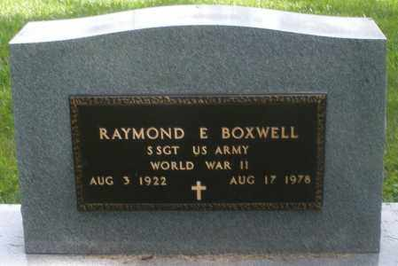 BOXWELL, RAYMOND E. - Preble County, Ohio | RAYMOND E. BOXWELL - Ohio Gravestone Photos