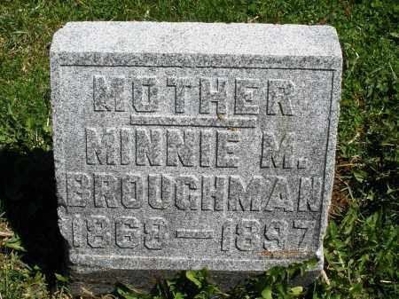 BROUGHMAN, MINNIE M. - Preble County, Ohio | MINNIE M. BROUGHMAN - Ohio Gravestone Photos