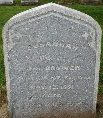 BROWER, SUSANNAH - Preble County, Ohio | SUSANNAH BROWER - Ohio Gravestone Photos