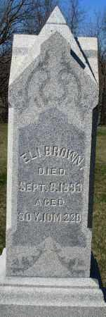 BROWN, ELI - Preble County, Ohio | ELI BROWN - Ohio Gravestone Photos