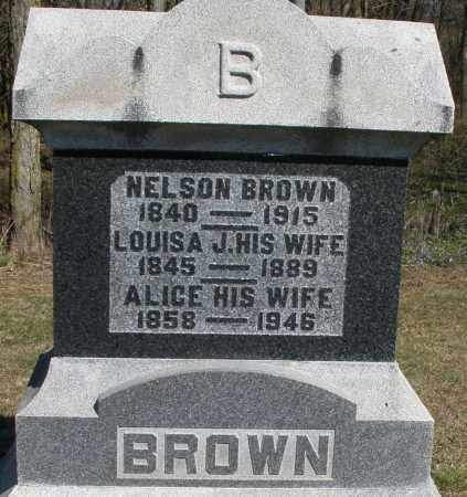 BROWN, LOUISA J. - Preble County, Ohio | LOUISA J. BROWN - Ohio Gravestone Photos