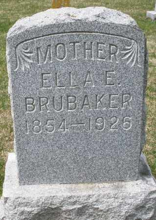BRUBAKER, ELLA E. - Preble County, Ohio | ELLA E. BRUBAKER - Ohio Gravestone Photos