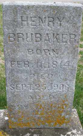 BRUBAKER, HENRY - Preble County, Ohio | HENRY BRUBAKER - Ohio Gravestone Photos