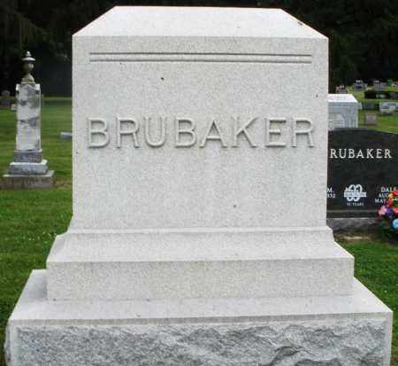 BRUBAKER, MONUMENT - Preble County, Ohio | MONUMENT BRUBAKER - Ohio Gravestone Photos
