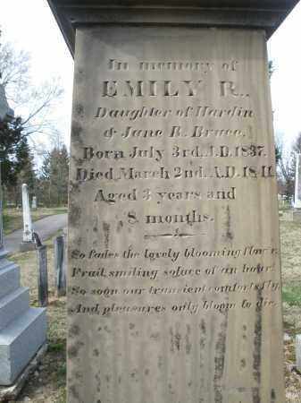 BRUCE, EMILY R. - Preble County, Ohio | EMILY R. BRUCE - Ohio Gravestone Photos